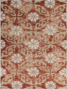 Kanoka Hand-Tufted Red Area Rug