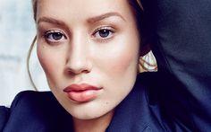 Download wallpapers Iggy Azalea, 4k, American singer, portrait, make-up, face, Australian singer, beautiful woman, blonde, Amethyst Amelia Kelly