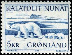 1976 Slania Greenland Polar bear cubs