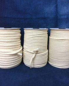 Cream cotton braided rope / Natural Rope / Cream Cotton Rope / macrame cord / Rope decoration / 50 yard Spool of braided cream rope Where To Buy Rope, Textiles, Sisal, Rope Decor, Rope Shelves, How To Make Coasters, Fabric Bowls, Rope Crafts, Rope Basket
