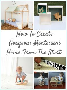 Setting Up your home the Montessori way from the start with handmade materials.