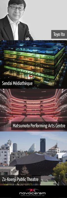 Hommage à Toyo Ito et son architecture conceptuelle. En 2013, il reçoit le Prix #Pritzker d'architecture.  Plus d'informations : http://www.novoceram.fr/blog/news/prix-pritzker-2013-toyo-ito #DESIGN #ToyoIto #Architecture