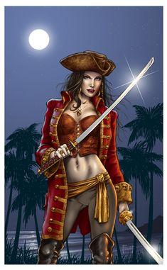 Female Pirate Drawings | Artist (Mitch Foust)'s Deviant art site: http://mitchfoust.deviantart ...