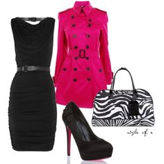 Hot Pink (MICHAEL Michael Kors Belted jersey dress $140) this dress is so very me! Love it want it! N the shoes too n may be the jacket..