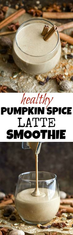 This healthy Pumpkin Spice Latte Breakfast Smoothie can be enjoyed hot or cold and makes a comforting fall-flavoured breakfast or snack