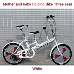 "20""Folding+Mini+Bicycle+3+Speeds+MM™+Mother+and+Baby+Double+Seat+City+Bike+High-catbon+Steel+Frame+Adding+Back+Seat+–+USD+$+349.99"