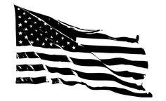 Distressed American Flag Hood Decal Large Hood Door