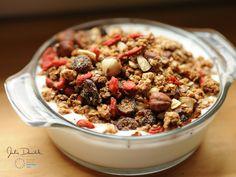 Gluten-Free Quinoa Goji Berry Granola by JulieDaniluk.com