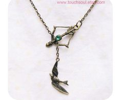 This elegant Hunger Games necklace is so affordable.