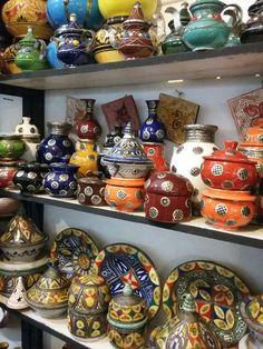 Morrocan pottery.