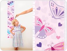 Beautiful Butterfly Growth Chart for Girls