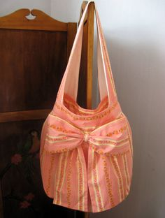 Giant Bow Heather Ross Folklore Shoulder Bag - Amy Butler Birdie Sling