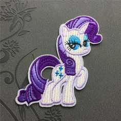 Cartoon patch Rarity - My Little Pony Patch Iron on Patch embroidered patches Sew on patches