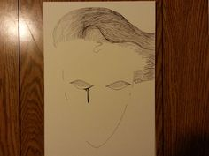 """Final head only drawing for """"Shadow Rider"""" comic cover. Ms.J. Senior year."""
