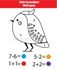 Color by numbers, printable worksheet. Coloring page with bird — Stock Illustration Coloring Sheets, Coloring Pages, Geometry Angles, Mathematics Games, Math Anchor Charts, Educational Games For Kids, Color By Numbers, Printable Worksheets, Free Printable