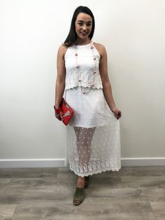 Tiffosi presents the stunning white lace dress which is accented with a mini length jersey lining with an overlay design on the bodice. Lace Skirt, Lace Dress, Sequin Skirt, White Dress, Wedding After Party, Festival Fashion, White Lace, Bodice, Fashion Inspiration