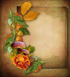 Podzimní papíry pro text | Tvoření Diy And Crafts, Wreaths, Fall, Frames, Painting, Home Decor, Seasons, Posters, Autumn