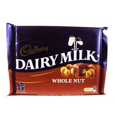 Cadburys Whole Nut is a no-nonsense chocolate bar combining delicious Dairy Milk chocolate with whole nuts for an instantly recognisable, smooth-yet-crunchy confectionary experience. Dairy Milk Chocolate, Cadbury Dairy Milk, Smoothie Drinks, Smoothies, Feel Good Food, Sweets, Candy, Smoothie