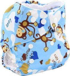 Baby Cloth Diaper Cover, Washable Baby Nappy, Reusable