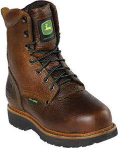 John Deere Women's STEEL TOE Brown Work Boot 6.5 M John Deere http://
