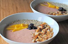 Smoothie Bowls with Fruits and Nuts