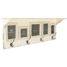 antique cream wall shelf with 5 frames from hobby lobby more