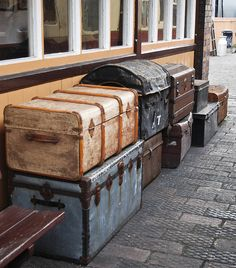 Packing Vintage Steam Trunks by Rail