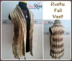 crochet autumn vest free pattern