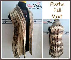 crochet autumn vest free pattern