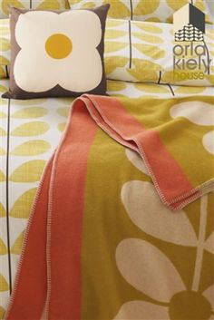 Buy Sixties Stem Straw Lambswool Throw from the Next UK online shop