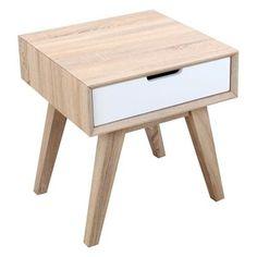 Noční stolek se zásuvkou French Modern, 50x50x55 cm | Bonami