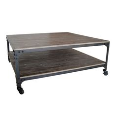 Distressed Wood and Metal Coffee Table (China) | Overstock.com Shopping - The Best Deals on Coffee, Sofa & End Tables