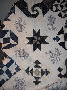 bluework quilt