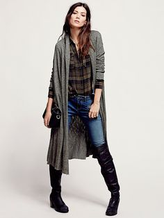 Free People Afternoon Wrap Jacket, $88.00. I love this fall outfit combo!