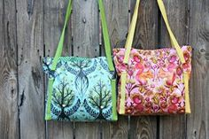 Today, I'm excited to bring you a simple tote pattern that you can make using quilt batting! I made mine with a laminate fabric, but you can absolutely make it with quilting cotton or decor weight. Today's post is also part of 'Purse Week' on A Lemon Squeezy Home. This is a great series of guest posts and a purse making contest (which you can enter in their Flickr pool here). Check it out!!