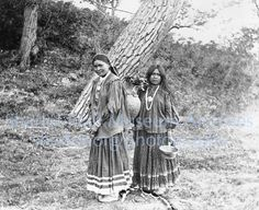 Two Apache Women from east fork of Clear Creek, Arizona, C.1900