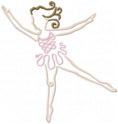 Colorline Ballerina Set, 12 Designs - 5x7 | Ballet-Dance | Machine Embroidery Designs | SWAKembroidery.com Oma's Place