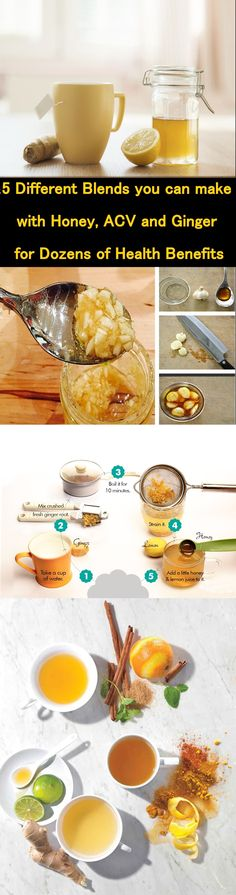 5 Different Blends you can make with Honey, ACV and Ginger for Dozens of Health Benefits