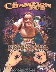 1000's of original pinball machine and arcade game promo sales flyers for sale www.pinballflyers.net #chameleoncollectibles #pinballflyers