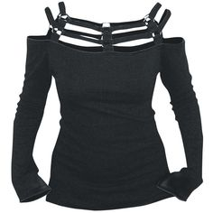 """Original """"Strapped"""" Longsleeve.  Normal longsleeves are too boring for you? Then check out the black Strapped girls longsleeve of Spiral. The upper chest part is namely made of black straps - a real eye-catcher!"""