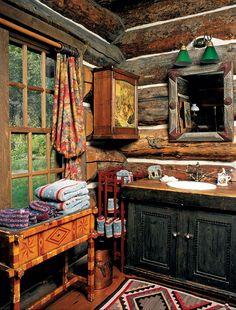 Rustic bathroom cabin bathroom