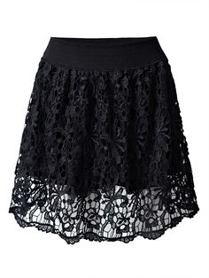 Sale 24% (21.68$) - Sexy Crochet High Waist A-Line Women Mini Skirt