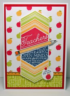 PAPERTREY INK TEACH AND INSPIRE AND  SCHOOL TIME STAMP SETS  SCRAPPYDEB.BLOGSPOT.COM