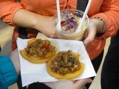 #Arepas Chilenas con #Ceviche.