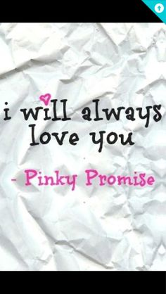 Pinky Promise :-)