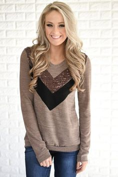 Not in love with the color but I like the chevron design with the sequins feature.