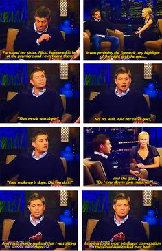 Jensen is my hero! Pretty sure I've pinned this before, but really... it deserves a repin!