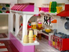 Lego Bakery and Ice cream shop by Super-Junk