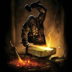 Brokkr-Norse god of blacksmithing
