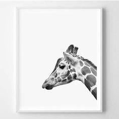 Giraffe print Animal print Minimalistic African by WallArt2Decor